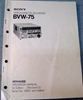 Image de Sony BVW-75 Operation Manual 1st Edition (Revised 2)