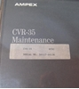 Picture of Ampex CVR-35 Maintenance Manual Volume 1