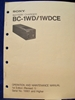 Image de Sony BC-1WD/1WDCE Operation and Maintenance Manual 1st Edition (Revised 1)